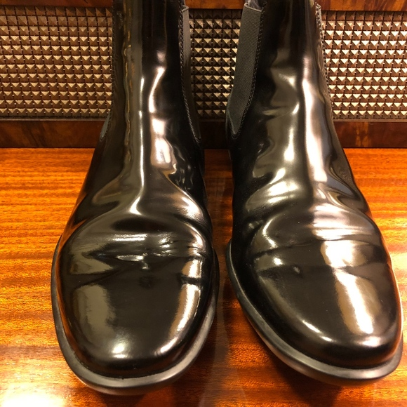 a91da6dd88 Tod's Shoes | Mens Tods Black Patent Leather Boots 8m | Poshmark